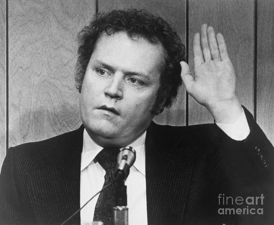 Publisher Larry Flynt Being Sworn Photograph by Bettmann