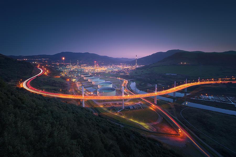 Puente de La Arena y Petronor en Muskiz by Mikel Martinez de Osaba