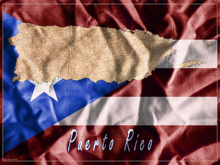 Puerto Rico Art Map Style 9 by Greg Edwards