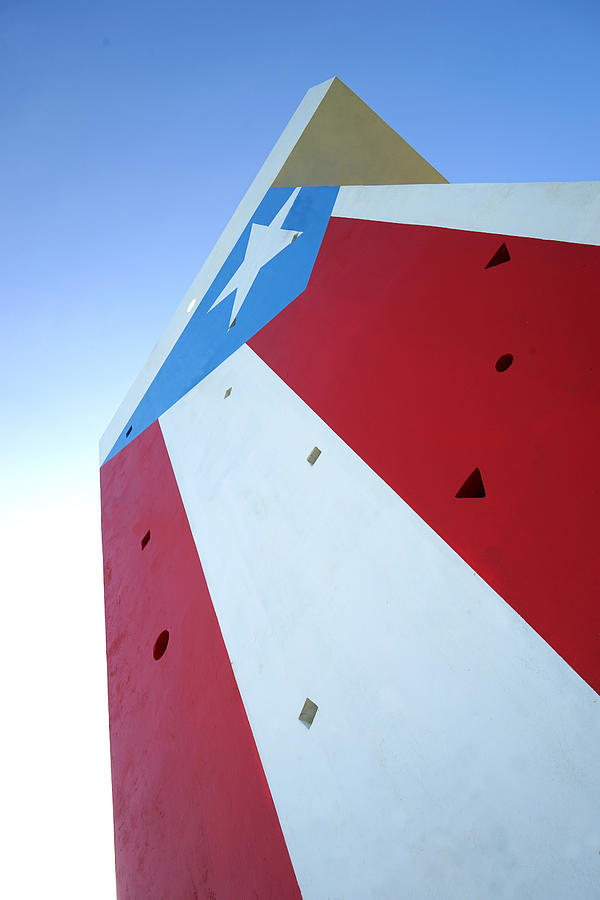 Puerto Rico - Concrete Flag by Richard Reeve