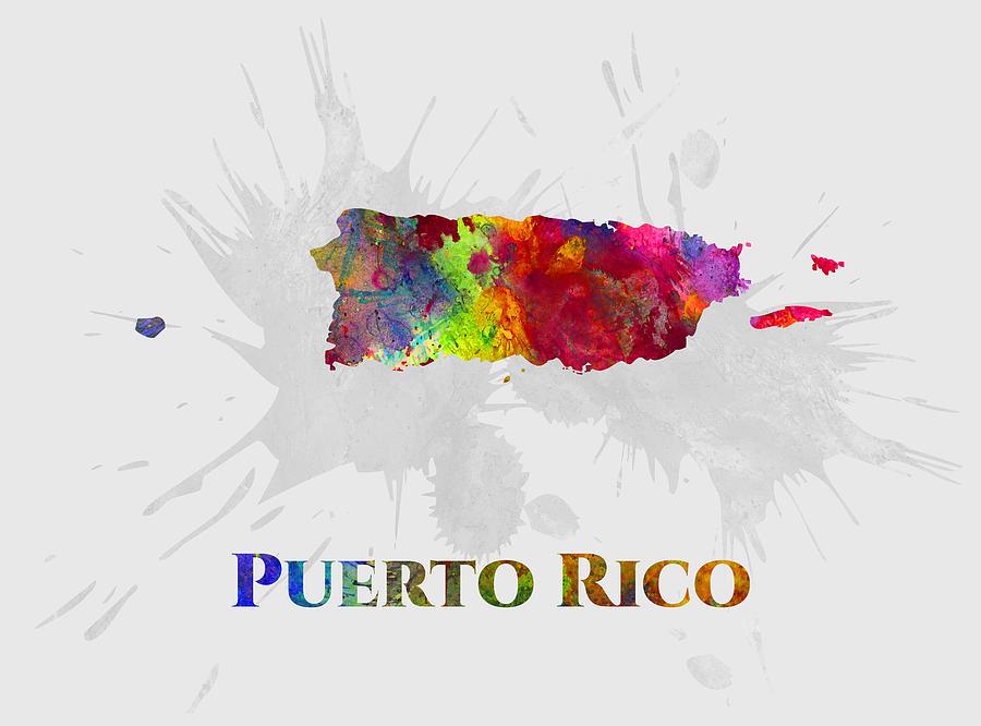 Puerto Rico, Map, Artist Singh
