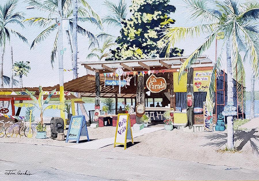 Puerto Viejo Bus Stop by Jim Gerkin