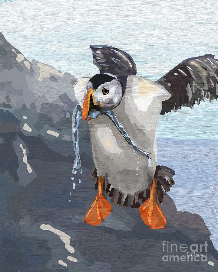 Puffin Lunch by Robin Wiesneth