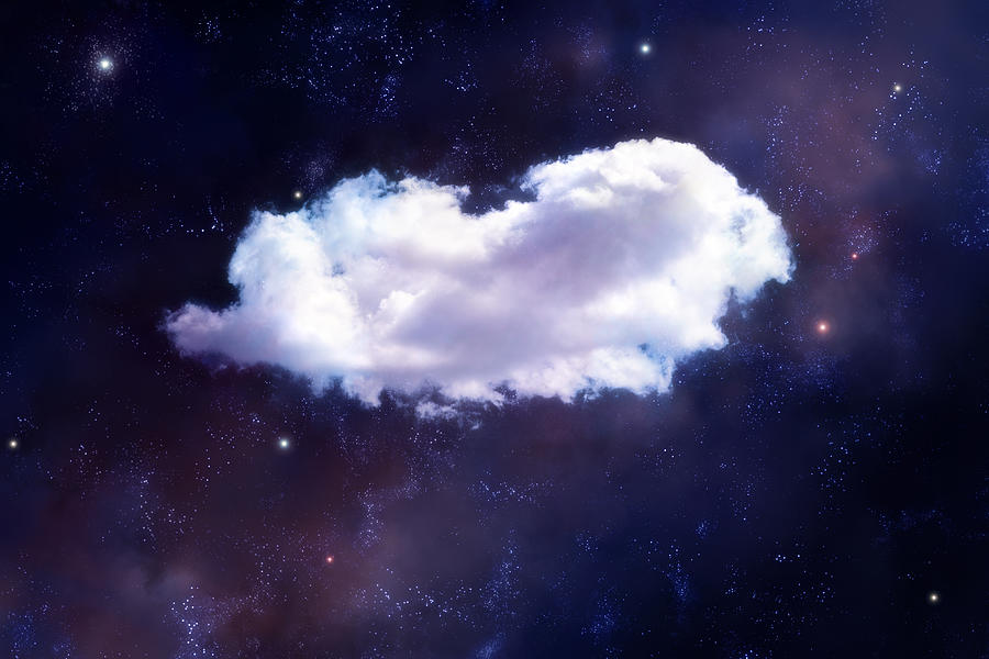 Puffy Cloud In Space Digital Art by Maciej Frolow