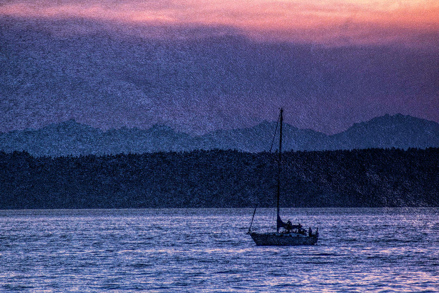 Puget Sound Sailing by Cathy Anderson