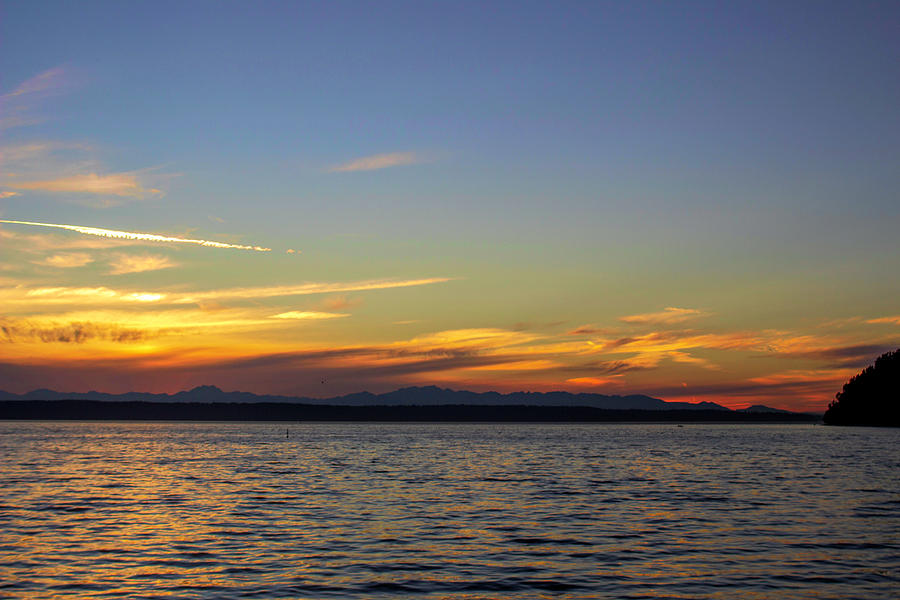 Puget Sound Sunset  by Cathy Anderson