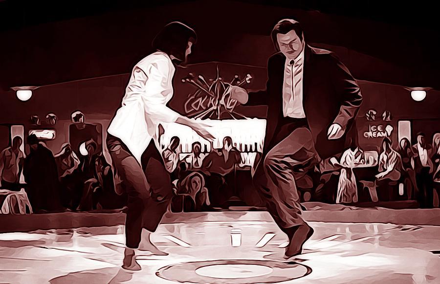Pulp Fiction Dance Scene Canvas Picture Wall Art Print