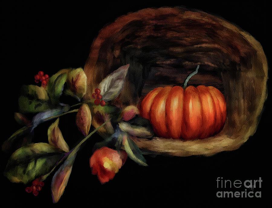 Pumpkin In A Basket by Lois Bryan