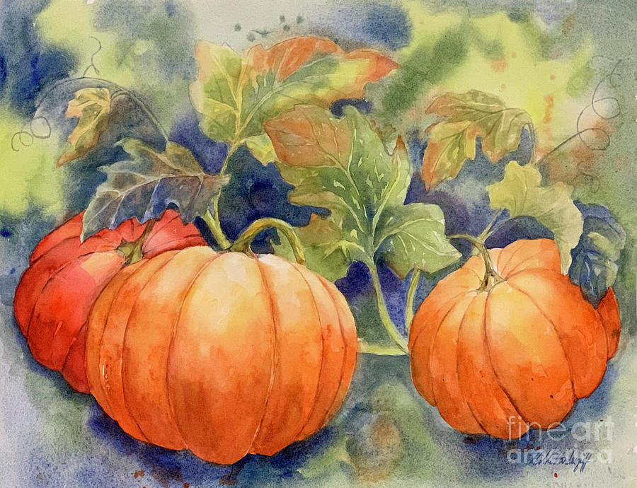 Pumpkin Patch by Hilda Vandergriff