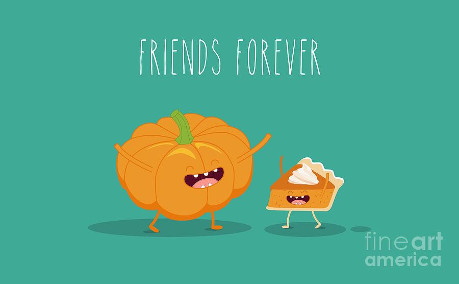 Symbol Photograph - Pumpkin Pie. Pumpkin Vector Cartoon by Serbinka