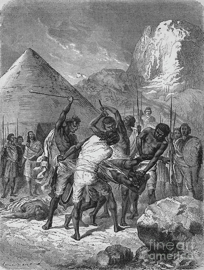 Punishment Of Abyssinian Captives Drawing by Print Collector