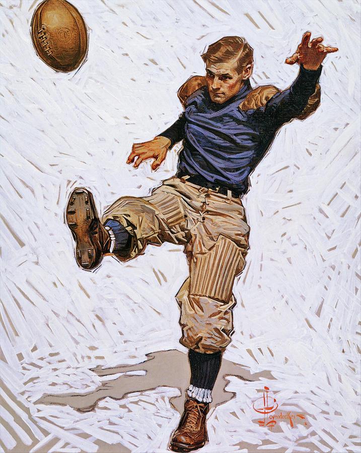 Joseph Christian Leyendecker Painting - Punter - Digital Remastered Edition by Joseph Christian Leyendecker