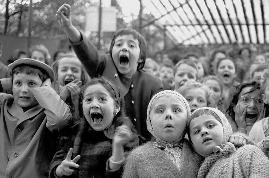 Puppet Audience Photograph by Alfred Eisenstaedt