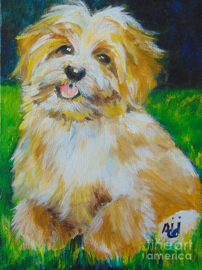 Terrier Painting - Puppy by Saundra Johnson