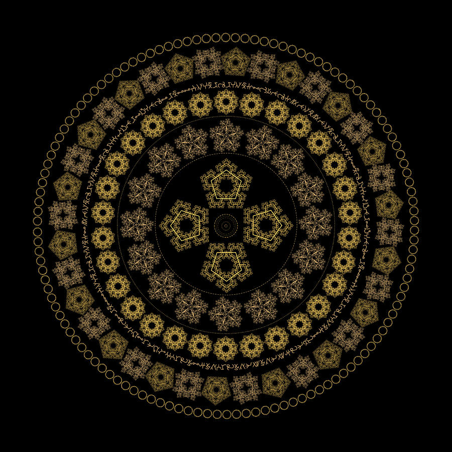Pure Golden Light Mandala by Nathalie DAOUT