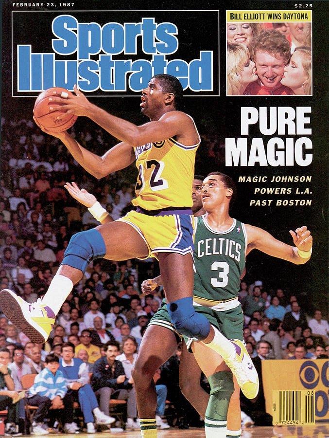 Pure Magic Magic Johnson Powers L.a. Past Boston Sports Illustrated Cover Photograph by Sports Illustrated