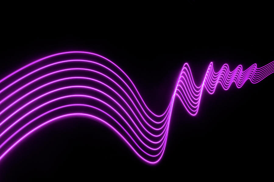 Purple Abstract Lights Trails And Photograph by John Rensten