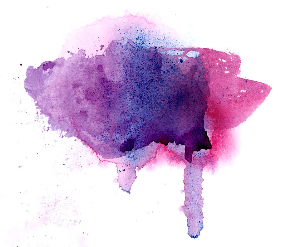 Purple And Violet Abstract Painted Photograph by Alenchi