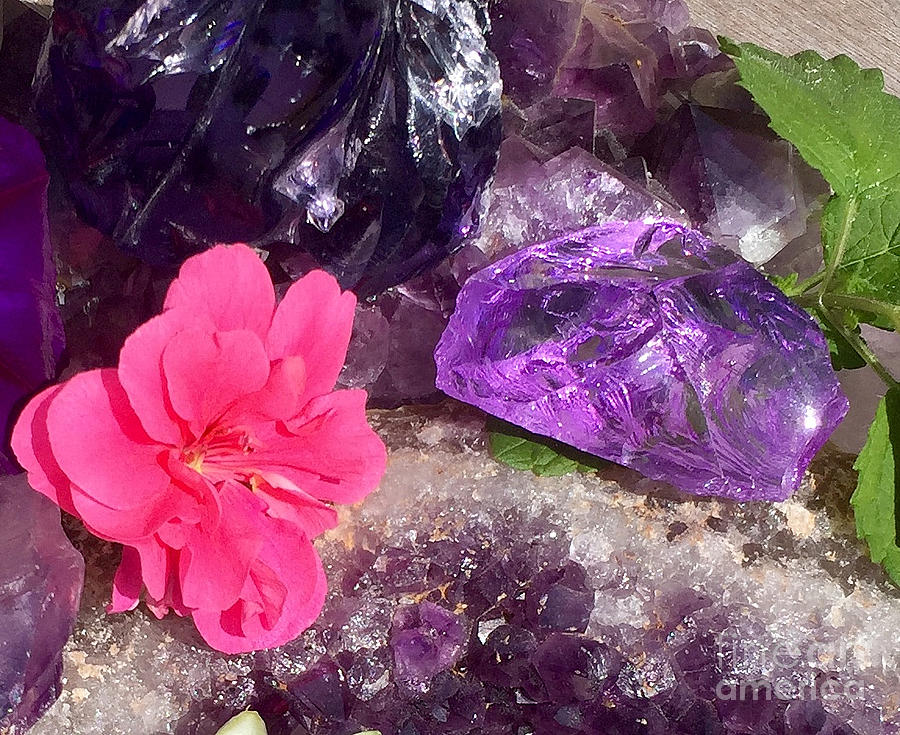 Purple Andara Crystalline Creation by Nathalie DAOUT