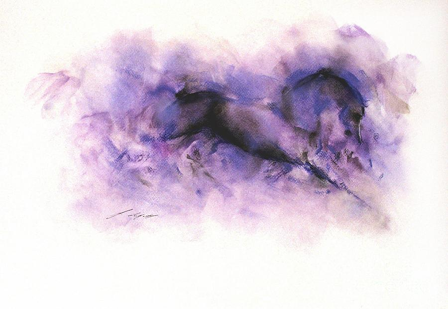 Horse Painting - Equus 5 by Janette Lockett