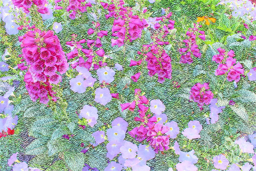 Purple Bell Flowers Photograph