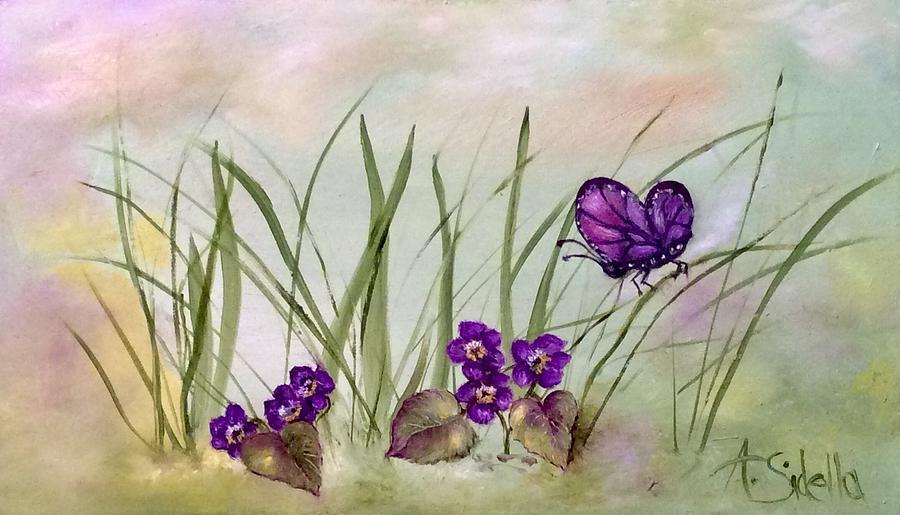 Purple Butterfly by Annamarie Sidella-Felts