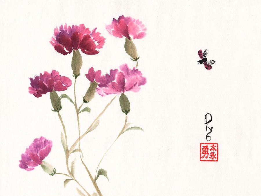 Purple Carnations by Derek Motonaga