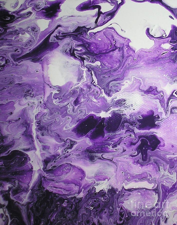 Purple Chaos Abstract 1  by Karen Jane Jones