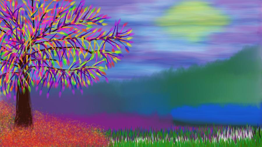Purple Day Digital Art
