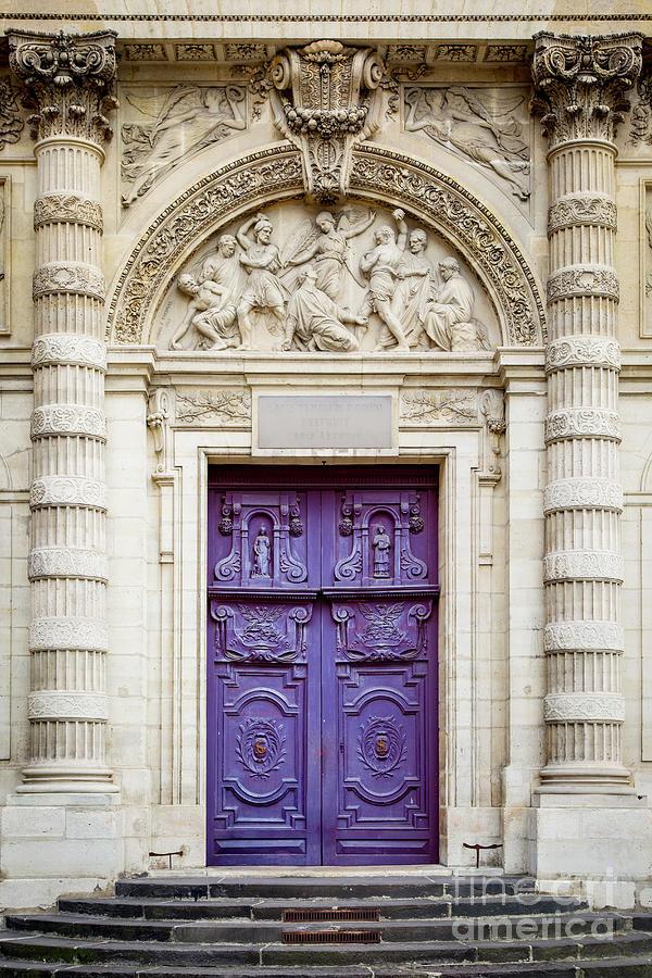 Purple Doors to Saint Etienne du-Mont by Brian Jannsen