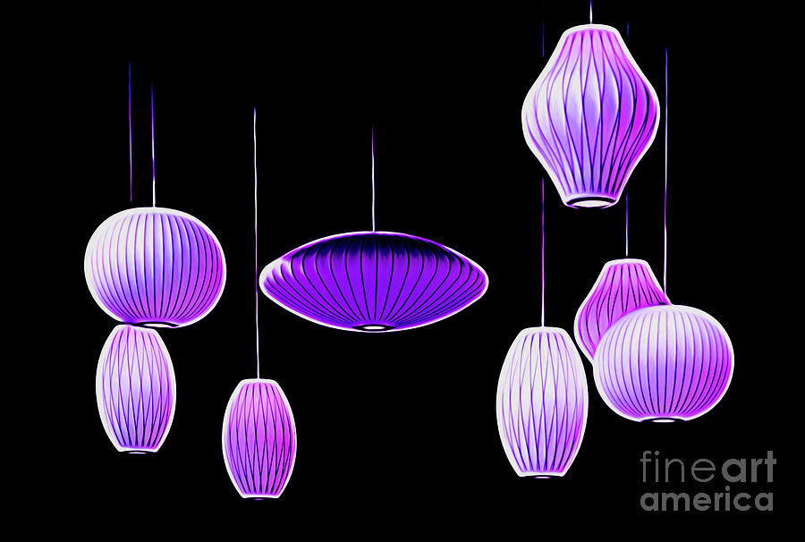 Purple Hanging Lights by Mel Steinhauer