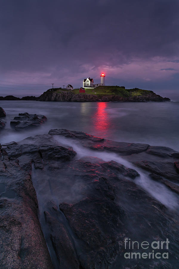 Purple Haze at Nubble Lighthouse by Jesse MacDonald