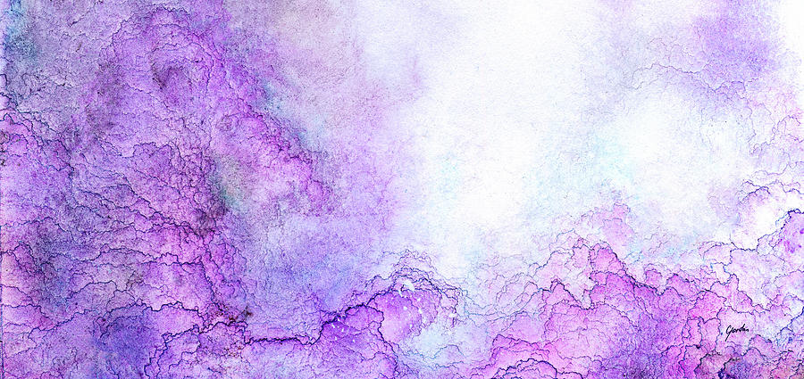 Purple Haze - Large Modern Abstract Art Painting  by Modern Art Prints