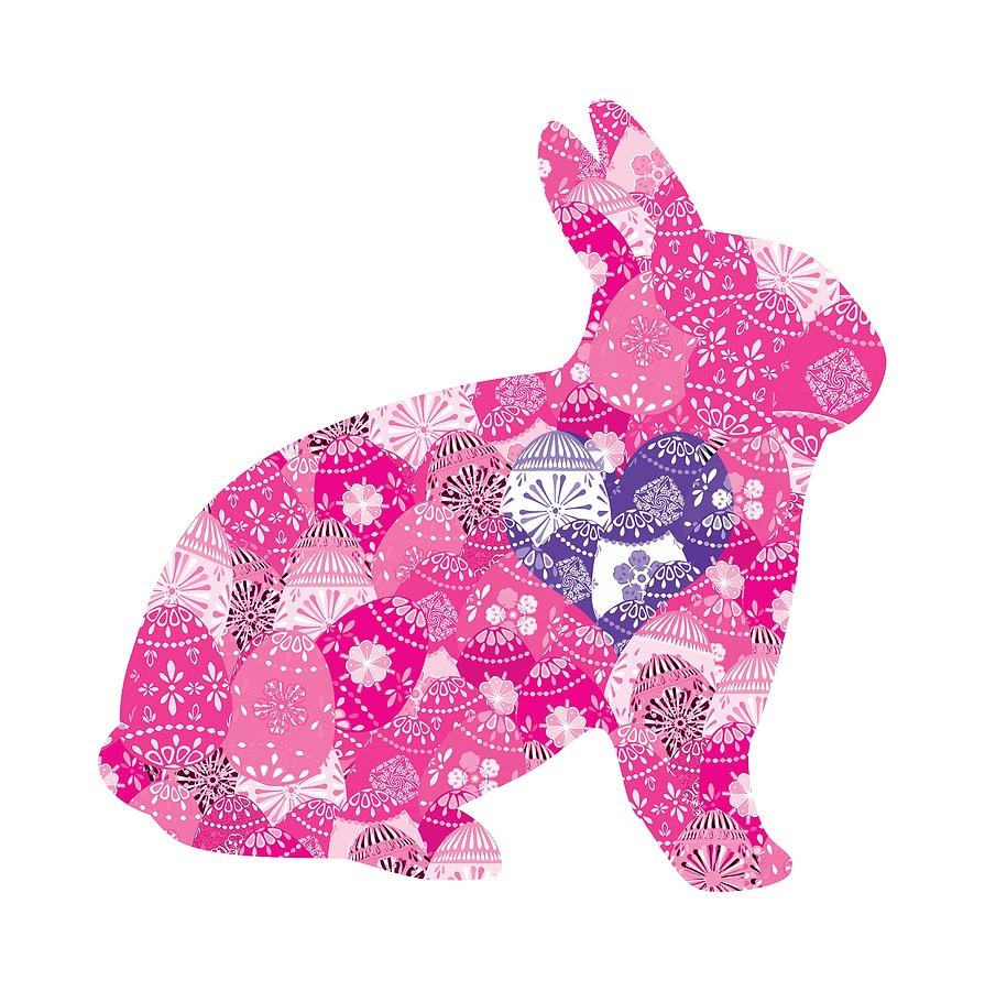 Purple Heart Patchwork Bunny by Marianne Campolongo