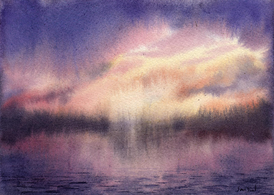 Purple Lake Sunset by Sean Seal