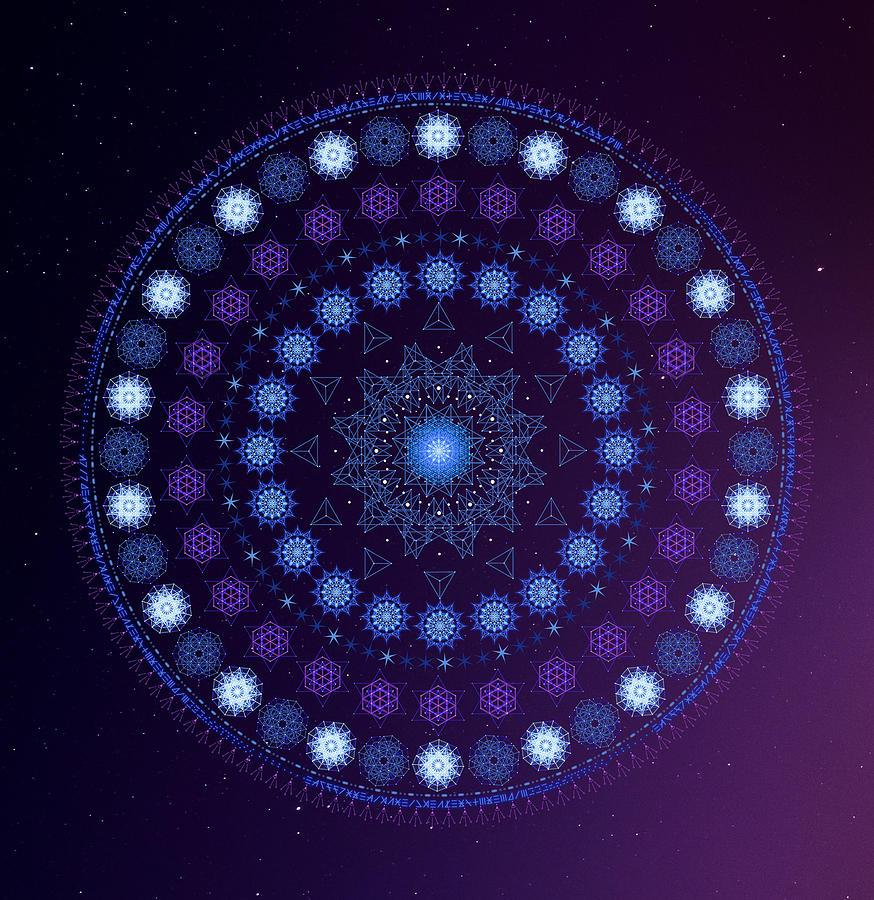 Purple Light Mandala Sacred Geometry by Nathalie DAOUT