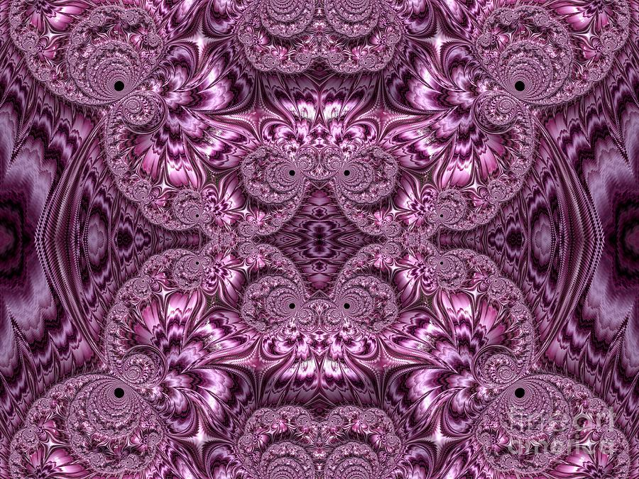 Purple Lilac Gardens and Reflecting Pools Fractal Abstract by Rose Santuci-Sofranko