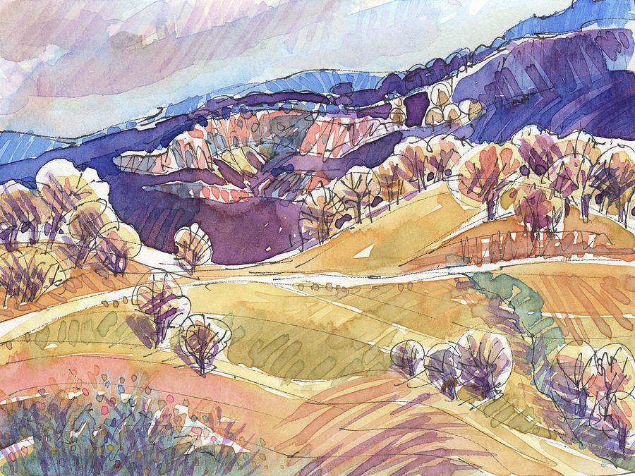 Purple Mountains, California by Judith Kunzle