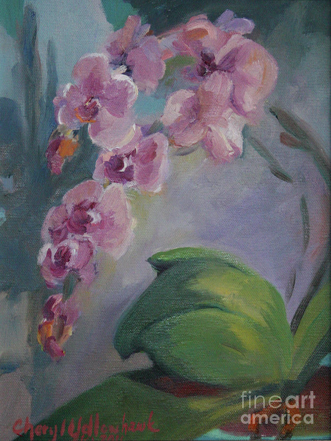 Flower Painting - Purple Orchid by Cheryl Yellowhawk