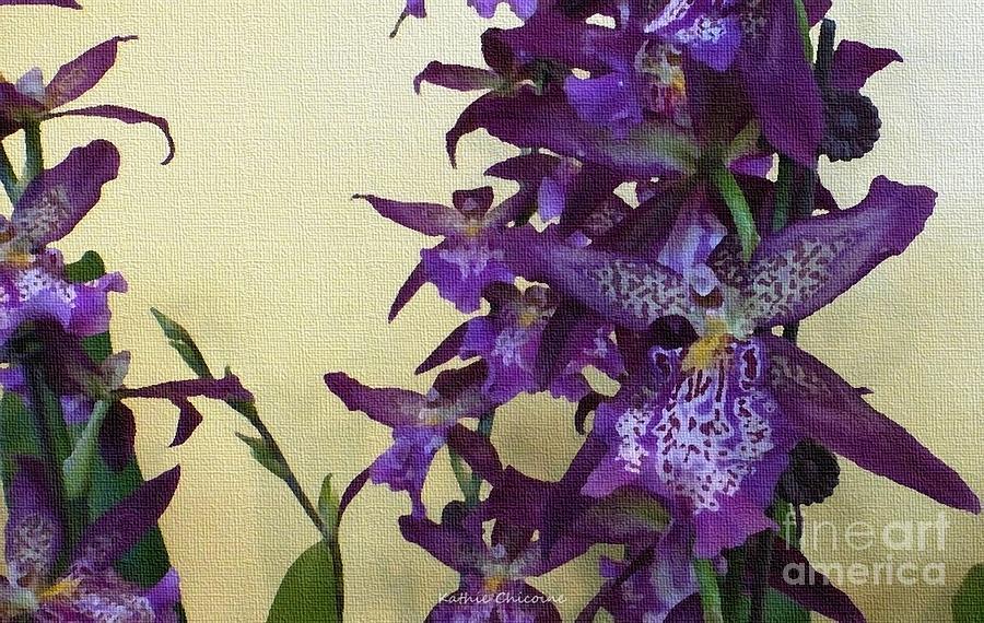 Purple Orchids by Kathie Chicoine