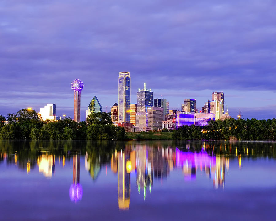 Purple Rain City of Dallas Texas by Robert Bellomy