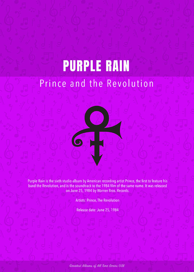 Purple Rain Prince And The Revolution The Greatest Albums Of All Time  Minimalist Series