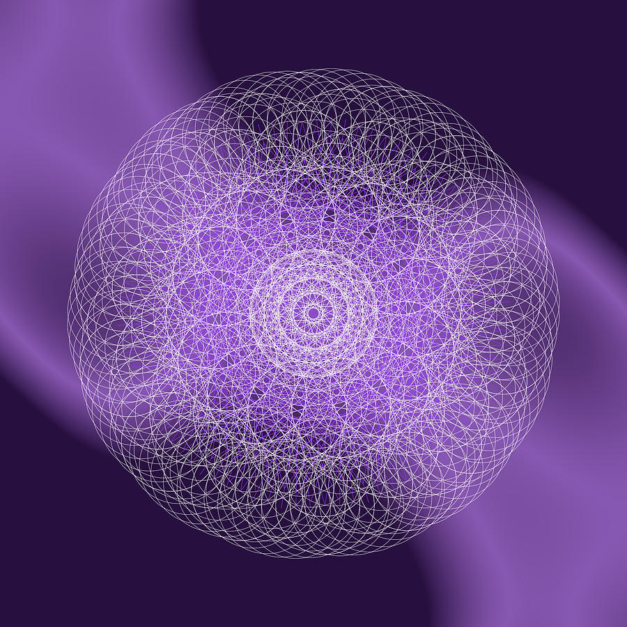 Purple Ray Mandala by Nathalie DAOUT