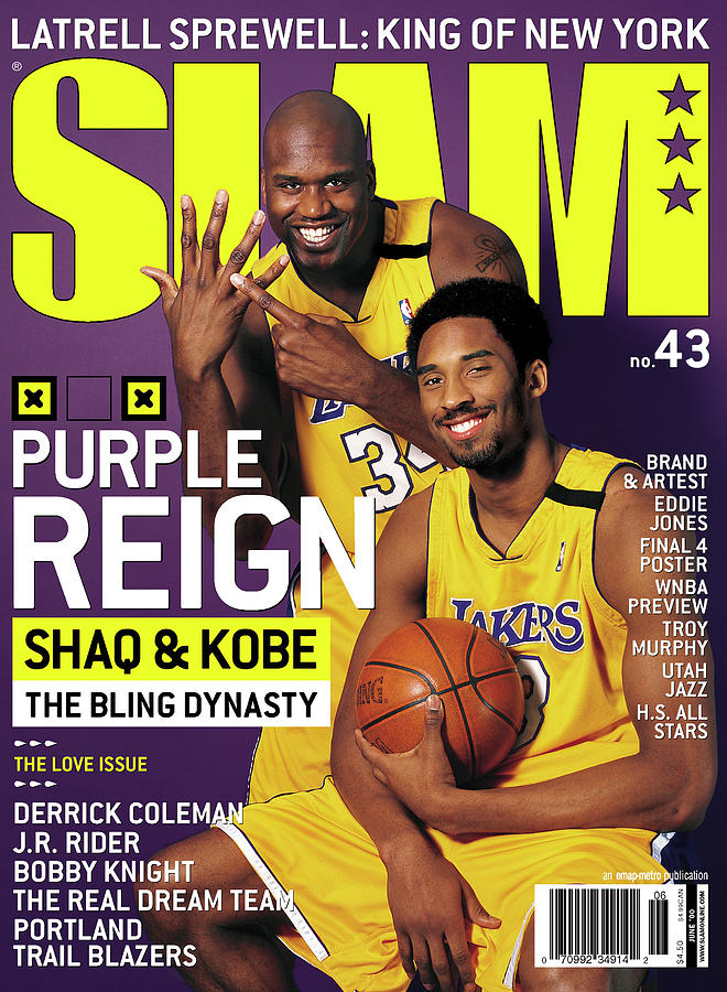 Purple Reign - Shaq & Kobe: The Bling Dynasty SLAM Cover Photograph by Getty Images