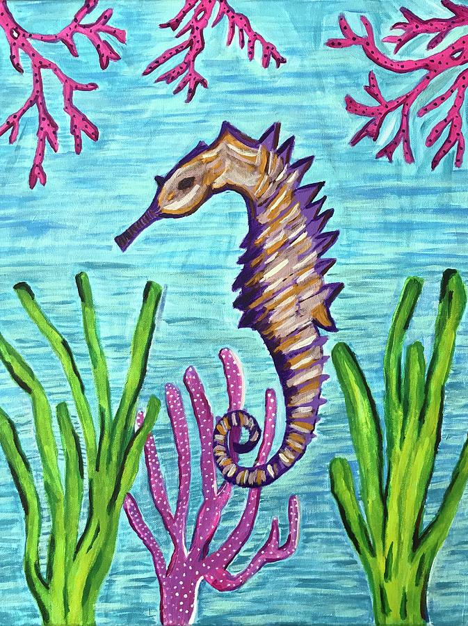 Purple Seahorse by Sarah Warman