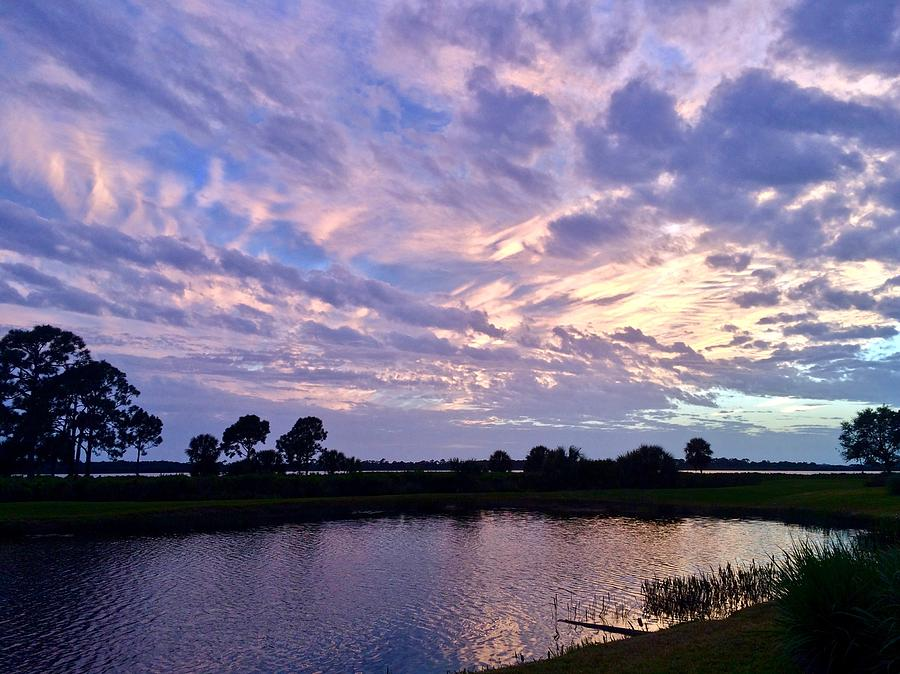 Purple Skies Over Water by Kathy Ozzard Chism