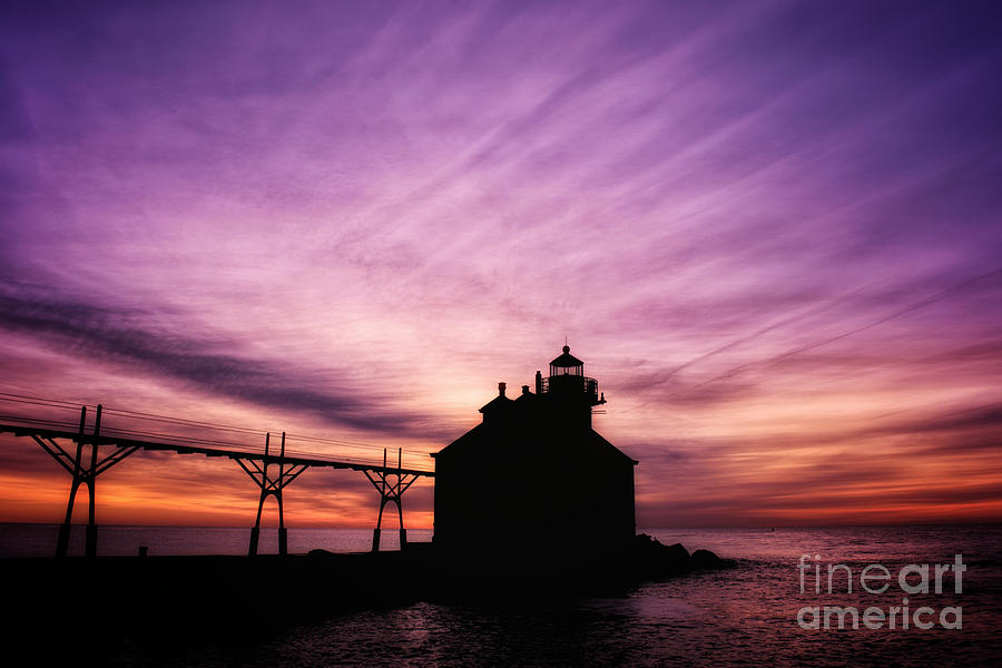 Purple Sunrise in Door County by Ever-Curious Geek