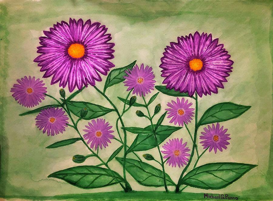 Purple Wildflowers Painting