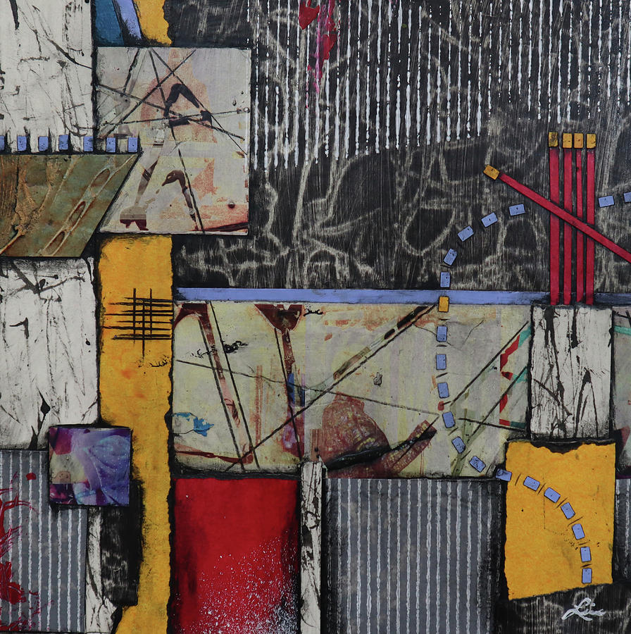 Lines Mixed Media - Putting It In Place by Laura Lein-Svencner