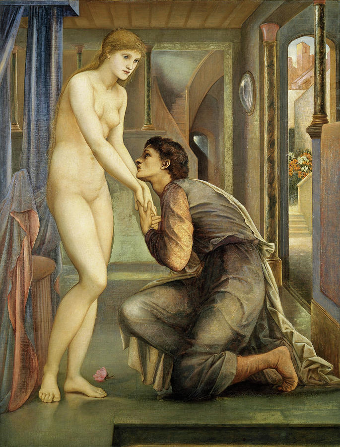 Edward Burne-jones Painting - Pygmalion And The Image, The Soul Attains - Digital Remastered Edition by Edward Burne-Jones